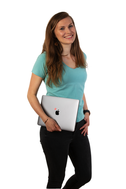 Lisa mit Laptop Monkeyminds.at